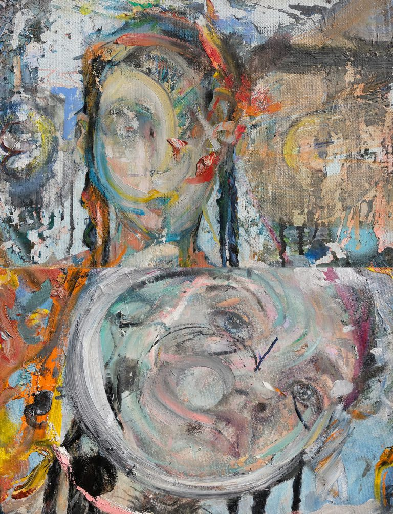 Molly- Tuned head Diptych